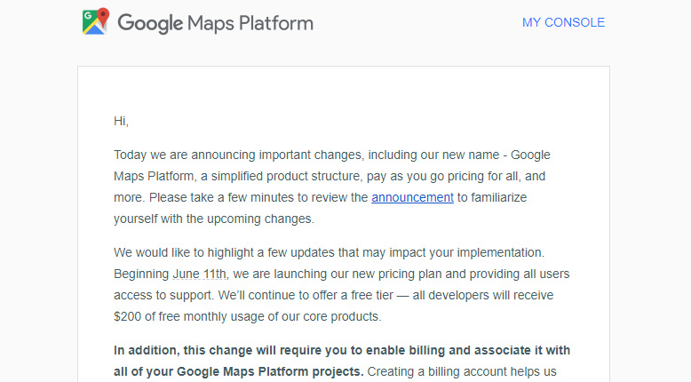 Google to launch new Maps Platform API service on June 11th