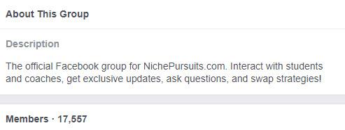 Niche Pursuits Facebook