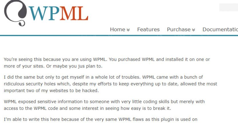 Popular WordPress plugin website defaced by an upset former employee