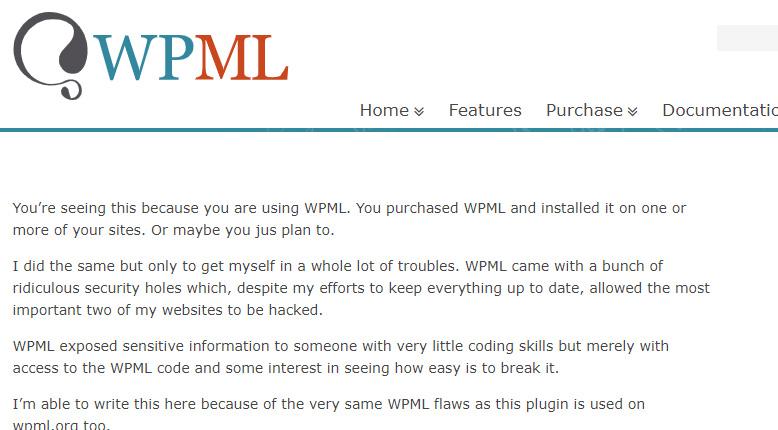 Popular WordPress plugin website defaced by an upset former employee