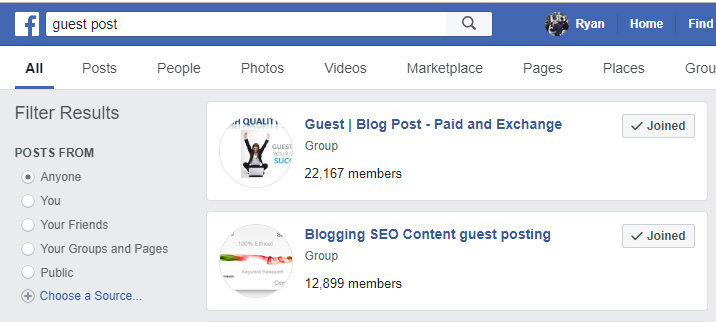 Facebook Guest Post Groups