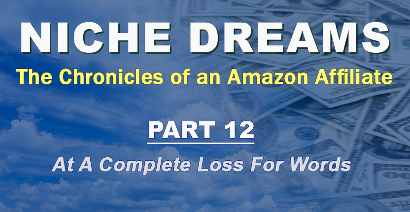 Niche Dreams – Part 12: At a Complete Loss for Words
